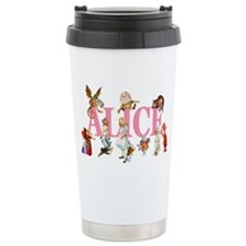 Alice & Friends in Wonderland Travel Mug