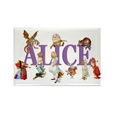 Alice & Friends in Wonderland Rectangle Magnet (10