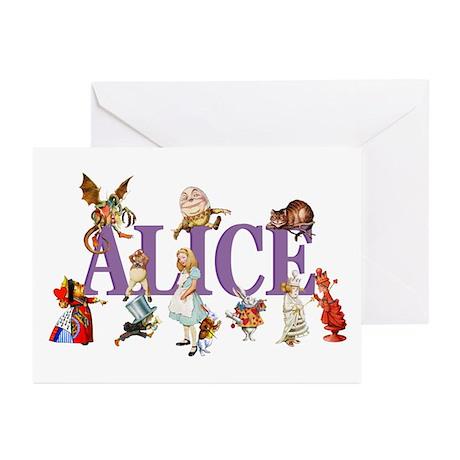 Alice & Friends in Wonderland Greeting Cards (Pk o
