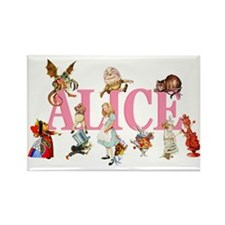 Alice & Friends in Wonderland Rectangle Magnet