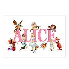 Alice & Friends in Wonderland Postcards (Package o
