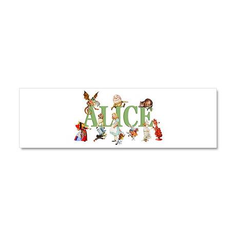 Alice & Friends in Wonderland Car Magnet 10 x 3