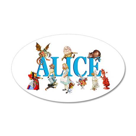Alice & Friends in Wonderland 38.5 x 24.5 Oval Wal