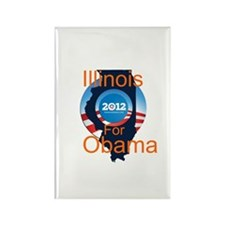 Illinois for Obama Rectangle Magnet