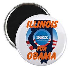 "Illinois for Obama 2.25"" Magnet (10 pack)"