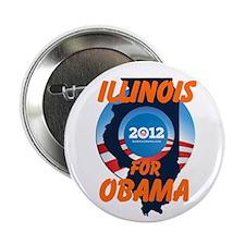 """Illinois for Obama 2.25"""" Button"""