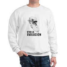 Charles Darwin Face of Evolution Sweatshirt