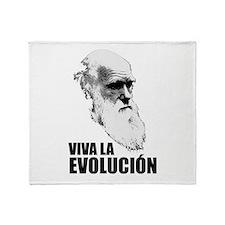 Charles Darwin Face of Evolution Throw Blanket