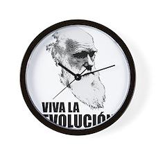Charles Darwin Face of Evolution Wall Clock