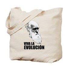 Charles Darwin Face of Evolution Tote Bag