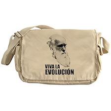 Charles Darwin Face of Evolution Messenger Bag