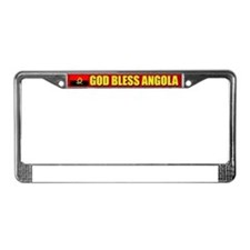 God Bless Angola License Plate Frame