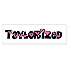 Taylorized Heart Bumper Bumper Sticker