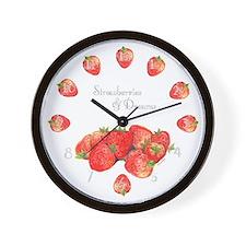Strawberry Dream Wall Clock