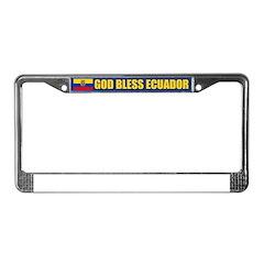 God Bless Ecuador License Plate Frame