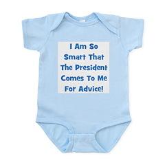 Presidential Advice - Blue Infant Creeper
