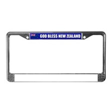 God Bless New Zealand License Plate Frame