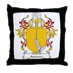 Berenson Coat of Arms, Family Throw Pillow