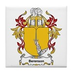 Berenson Coat of Arms, Family Tile Coaster