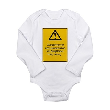 Socrates corrupts the youth! Long Sleeve Infant Bo