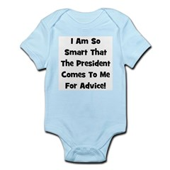 Presidential Advice - Black Infant Creeper