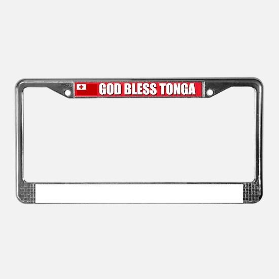 God Bless Tonga License Plate Frame