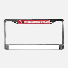 God Bless Trinidad and Tobago License Plate Frame