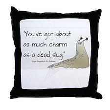 Dead Slug Throw Pillow