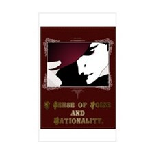 Sense of Poise & Rationality Rectangle Decal
