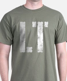 LT military rank distressed T-Shirt