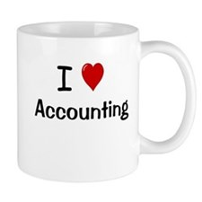 Accounting Gift - I Love Accounting Small Mug