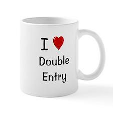 I Love Double Entry Accountant Small Mugs