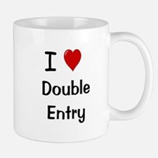 I Love Double Entry Accountant Small Mugs