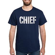 Chief white distressed print T-Shirt