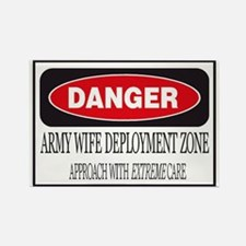 Army Wife Deployment Zone Rectangle Magnet