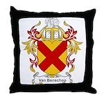 Van Benschop Coat of Arms Throw Pillow