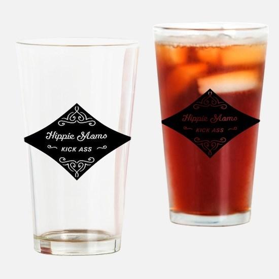Hippie Moms Kick Ass Drinking Glass