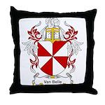 Van Belle Coat of Arms Throw Pillow