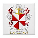 Van Belle Coat of Arms Tile Coaster