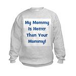 My Mommy Is Hotter!  Blue Kids Sweatshirt
