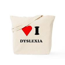 Love I Dyslexia Tote Bag