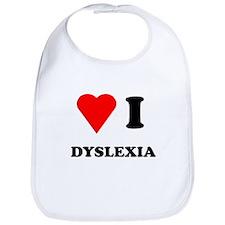 Love I Dyslexia Bib