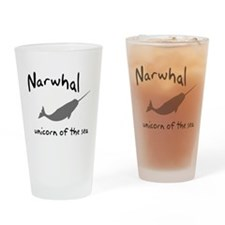 Narwhal Unicorn of the Sea Drinking Glass
