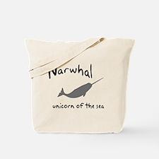 Narwhal Unicorn of the Sea Tote Bag