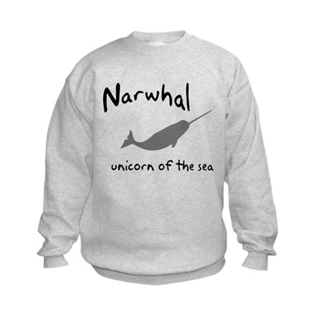 Narwhal Unicorn of the Sea Kids Sweatshirt