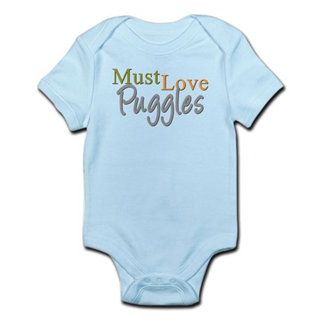 MUST LOVE Puggles Infant Bodysuit