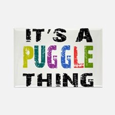 Puggle THING Rectangle Magnet