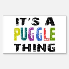 Puggle THING Decal