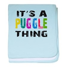 Puggle THING baby blanket