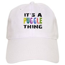 Puggle THING Baseball Cap